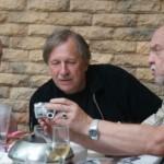 Скульпторы Александр Рябичев и Александр Вагнер с художником Михаилом Гурвичем