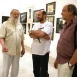 Скульпторы Владимир Мокроусов, Александр Рябичев и Александр Вагнер