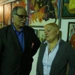 Искусствовед Семен Белов и автор выставки Маргарита Юркова