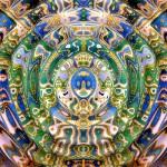 Александра Загряжская. Священная геометрия. Рисунок 9. Волна. Авторский принт.