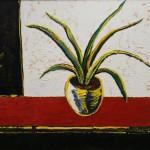 В.Н. Матвеев Натюрморт с цветком 2008 г. холст, масло Рождественская выставка на Беговой