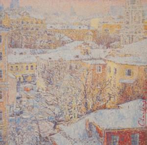 Люся Чарская Январское утро, 2014 г., холст, масло, Рождественская выставка на Беговой