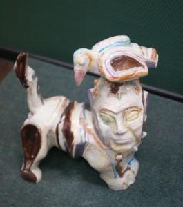 Ю.Ю.Нерода Беседа фаянс, эмаль, соли 2001 г. Рождественская выставка на Беговой