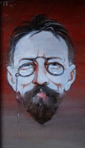 Павел Борисов- Чехов 1995 год, холст, масло, 41х21