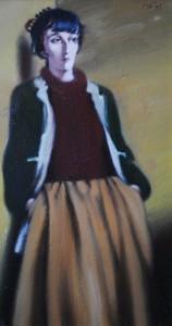 Павел Борисов- Анна Ахматова 1995х.м.50х30